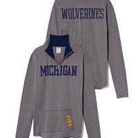 University of Michigan Raw Half-zip Pullover - PINK - Victoria's Secret
