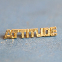 Golden Attitude - Letters word Badge