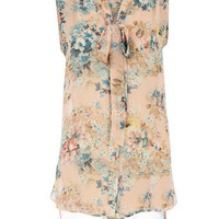 Blush floral pussybow blouse - Fashion Tops - Clothing - Dorothy Perkins