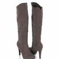 Knee-High Suedette Boots