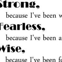 I'm strong because I've been weak I'm fearless because I've been afraid I'm wise because I've been foolish inspirational wall quotes sayings arts