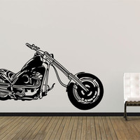 Chopper Wall Decal - Motorbike Vinyl Sticker