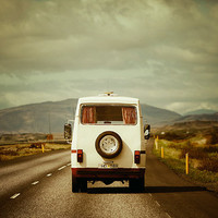 The Road Trip - Vintage Camper, Summer Vacation, Landscape Photography, Iceland, Car, Family Van, Adventure Travel