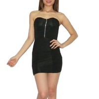 Womens Sexyme Thai Exotic Sexy Strapless Fitted Tube Dress - With Built-In Pads - Size: S-M