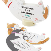 Year of the Critter Calendar in Sleepy Cat | Mod Retro Vintage Desk Accessories | ModCloth.com