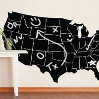 USA map chalkboard surface decal by Dezignwithaz on Etsy