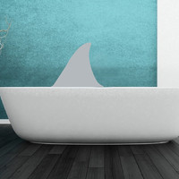 Shark Fin Vinyl Wall Decal 22309