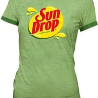 Sun Drop Citrus Soda Green Costume Juniors T-shirt Tee