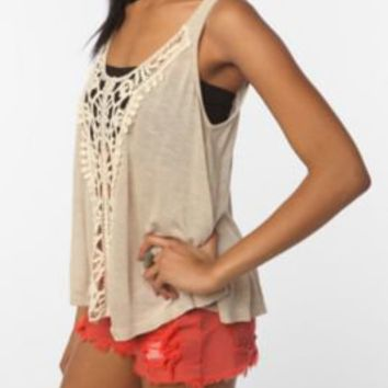 UrbanOutfitters.com > Staring at Stars Crochet Inset Cropped Tank