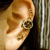 Brass Blood Earcuff by Jynxsbox on Etsy