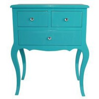 One Kings Lane - Aegean Accents - Wood Cabinet Aqua, Large