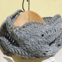 Crochet Lace Cowl - Neck Warmers - Luxury Wool 