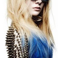 PEACOCK BLUE/ solid colored/ human hair extension/ clip-in hair/ dip dye ombre/ full set (4) hair extensions/ ready to SEND