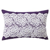 Xhilaration® Lace Decorative Pillow - Purple