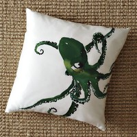 Octopus Silk Pillow Cover | west elm