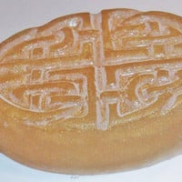 handmade Celtic Knot Honey soap -