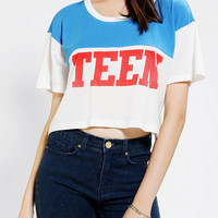 Urban Outfitters -  Truly Madly Deeply Teen Dream Colorblock Cropped Tee