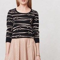 Ribbon Ruled Sweater