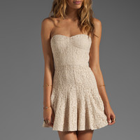 BCBGMAXAZRIA Structured Dress in Almond Blossom from REVOLVEclothing.com
