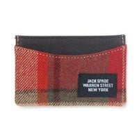 Jack Spade Woolrich Plaid Credit Card Holder