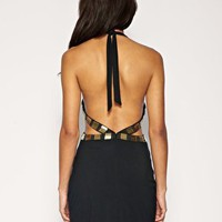 ASOS | ASOS Heavy Embellished Cut Out Body-Conscious Dress at ASOS