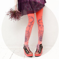 Coral roe print leggings