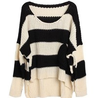 A 072919 Short in front long loose bat sleeve sweater