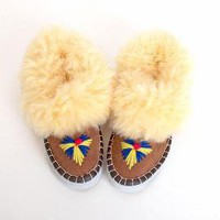 Size 8 Shearling Booties Moccasins 38 by twinheartsvintage on Etsy
