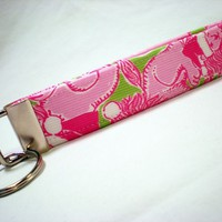 Key Fobs KeyChains Key Tags Wristlet Lilly by PinkysPetGear
