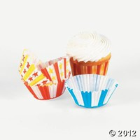 Big Top Baking Cups - Oriental Trading