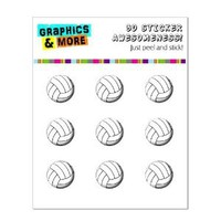 Volleyball Ball - Home Button Stickers Fit Apple iPhone (3G, 3GS, 4, 4S, 5), iPad (1, 2, 3, 4, mini), iPod Touch (1, 2, 3, 4, 5)