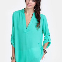 Destined For Greatness High-Low Blouse