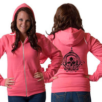 Ace Skull American Apparel Zip Up Hoodie
