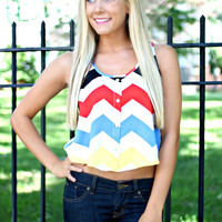 Color Me Chevron Crop Top