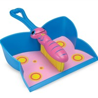 Melissa & Doug Bixie Butterfly Dustpan & Brush