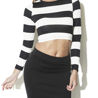 Wide Stripe Crop Top | Shop Tops at Arden B
