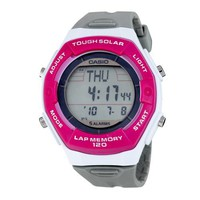 Casio Tough Solar Runner's 120-lap Memory Grey Dial Women's watch #LWS200H-4A