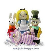 Alice in Wonderland Mad Hatter White Rabbit and by kandjdolls