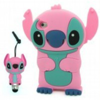 3D Cartoon Stitch & Lilo Soft Silicone Case Cover for Apple iPod Touch 4 4th Gen