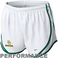 Nike Baylor Bears Ladies Tempo Performance Shorts - White