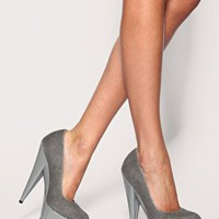 ASOS PUMPKIN Denim Pointed Court Shoes