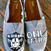 Oakland Raiders One Nation TOMS shoes by BStreetShoes on Etsy