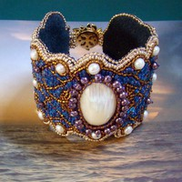 Arabian Nights Arabesque Cuff, Custom Order | AngelqueCreations - Jewelry on ArtFire