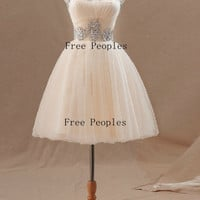 Custom Made A-line Mini Homecoming Dress/Bridesmaid Dress/Formal Dress