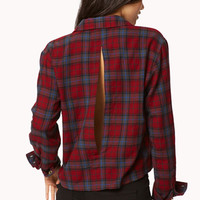 Slit Back Plaid Shirt | FOREVER 21 - 2059259886