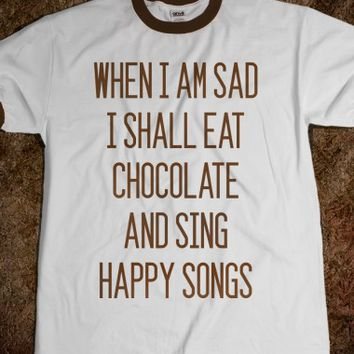 GET SAD EAT CHOCOLATE (CHOCOLATE FONT)