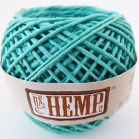 Turquoise Hemp Twine, 1mm, 82ft Ball, 20lb test, Polished Blue Cord | HempHut - Craft Supplies on ArtFire