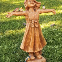 Joyful Girl Statue | Best-Selling Garden Art