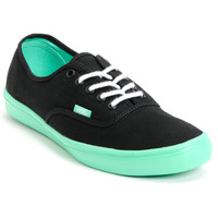 Vans Authentic Lite Black & Green Shoe at Zumiez : PDP