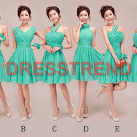 Bridesmaid Dress - Green Bridesmaid Dress / Short Bridemaid Dress / Summer Bridesmaid Dress / Prom Dress / Short Prom Dress